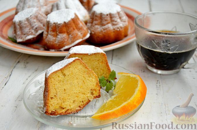 Фото к рецепту: Кексы на кефире и сгущённом молоке