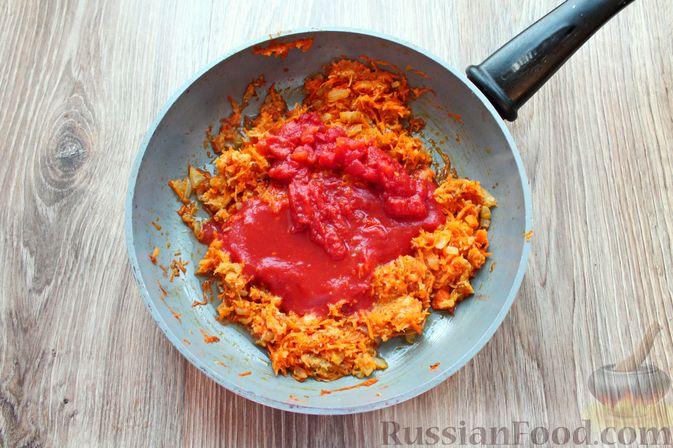 Фото приготовления рецепта: Рыбный суп с консервированными томатами - шаг №5