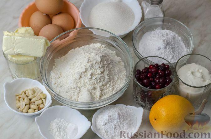 Фото приготовления рецепта: Апельсиновый кекс с клюквой и белковой глазурью - шаг №1