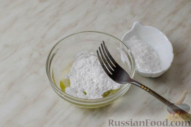 Фото приготовления рецепта: Апельсиновый кекс с клюквой и белковой глазурью - шаг №16