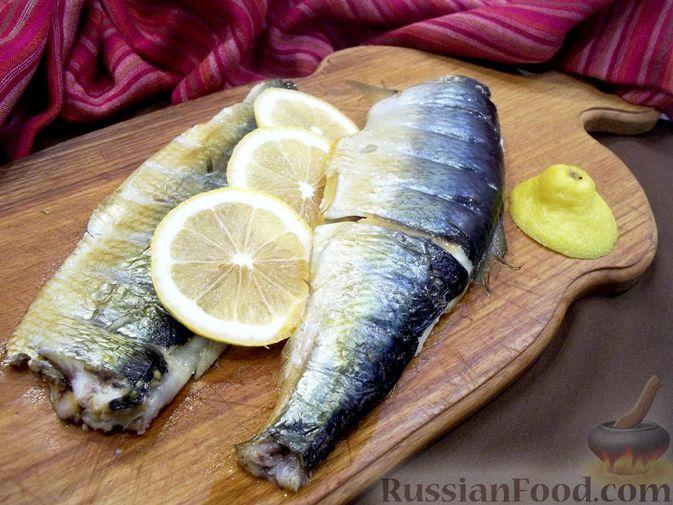 Фото к рецепту: Копчёная рыба на сковороде