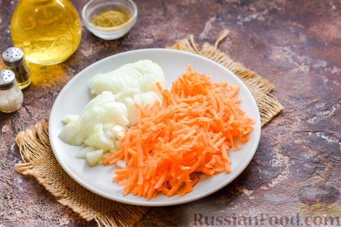 Фото приготовления рецепта: Запеканка из картофельного пюре, с куриной печенью - шаг №9