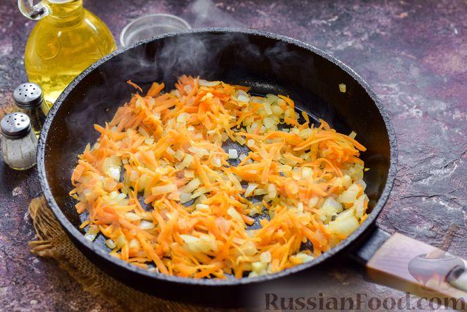 Фото приготовления рецепта: Запеканка из картофельного пюре, с куриной печенью - шаг №10