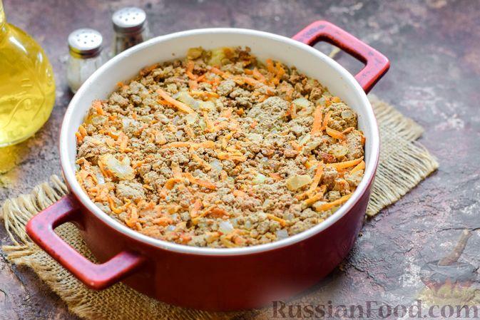Фото приготовления рецепта: Запеканка из картофельного пюре, с куриной печенью - шаг №14