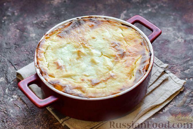 Фото приготовления рецепта: Запеканка из картофельного пюре, с куриной печенью - шаг №17