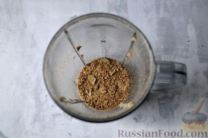 Фото приготовления рецепта: Льняная лепёшка без пшеничной муки (в микроволновке) - шаг №3