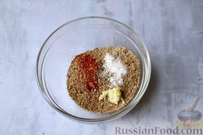 Фото приготовления рецепта: Льняная лепёшка без пшеничной муки (в микроволновке) - шаг №4