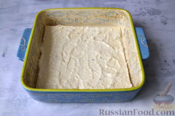 Фото приготовления рецепта: Лазанья с рыбой, помидором и сыром - шаг №11