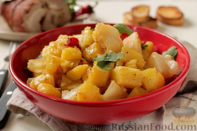 Фото к рецепту: Картошка, запечённая с капустой