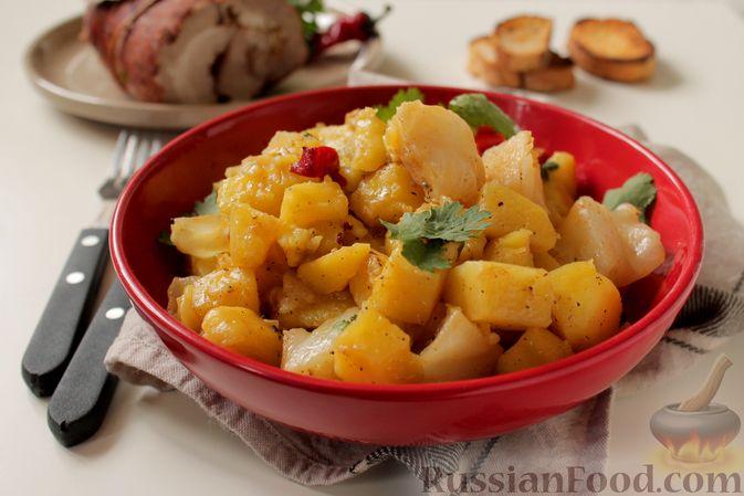 Фото приготовления рецепта: Картошка, запечённая с капустой - шаг №8