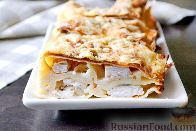 Фото приготовления рецепта: Лазанья с рыбой, помидором и сыром - шаг №21