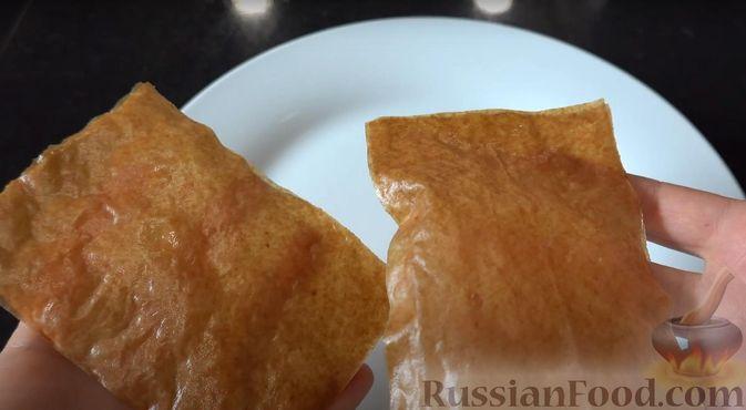 Фото приготовления рецепта: Закуска из теста фило с кремом из сёмги и сливочного сыра - шаг №3