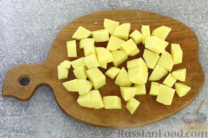 Фото приготовления рецепта: Картошка, запечённая со свининой и сметаной (в рукаве) - шаг №3