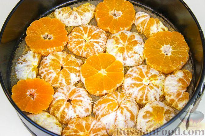 Фото приготовления рецепта: Миндальный пирог с мандаринами - шаг №4