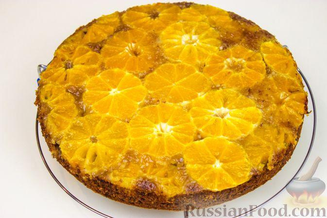 Фото приготовления рецепта: Миндальный пирог с мандаринами - шаг №6