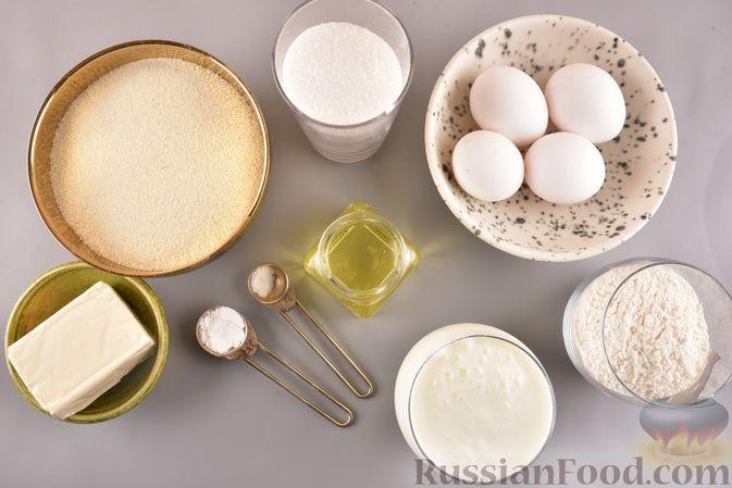 Фото приготовления рецепта: Несладкий манник на кефире, с плавленым сыром - шаг №1