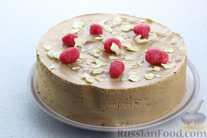 Фото к рецепту: Шоколадный муссовый торт с бисквитом