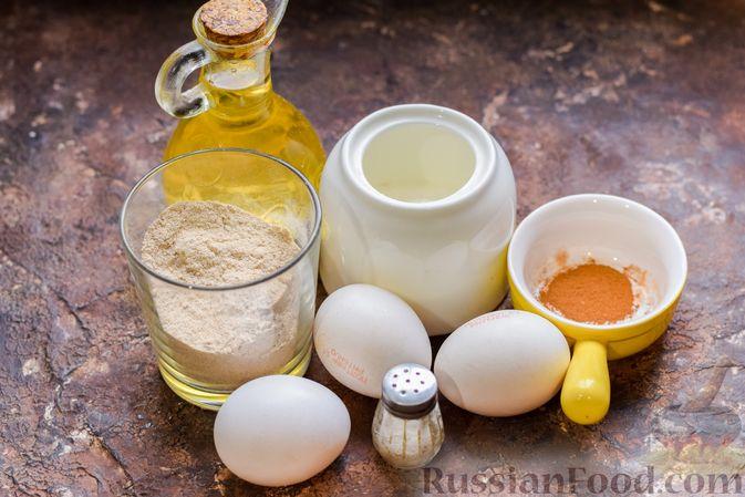 Фото приготовления рецепта: Гречневый бисквит с корицей - шаг №1
