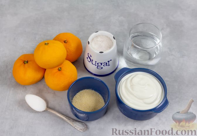 Фото приготовления рецепта: Сметанно-мандариновое желе - шаг №1