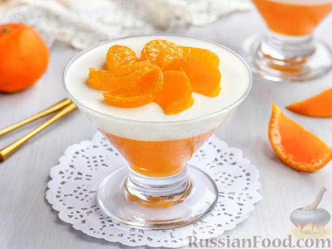 Фото к рецепту: Сметанно-мандариновое желе