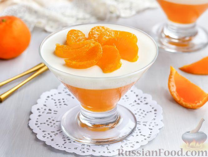 Фото приготовления рецепта: Сметанно-мандариновое желе - шаг №12
