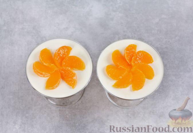 Фото приготовления рецепта: Сметанно-мандариновое желе - шаг №11