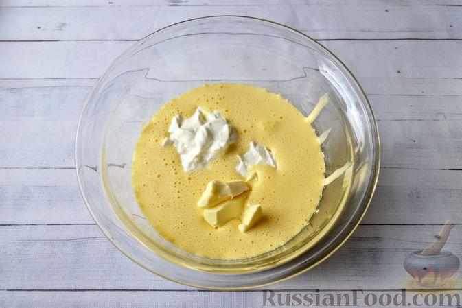 Фото приготовления рецепта: Творожно-сливочная запеканка с какао - шаг №6