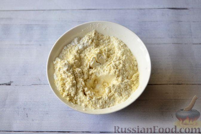 Фото приготовления рецепта: Творожно-сливочная запеканка с какао - шаг №7