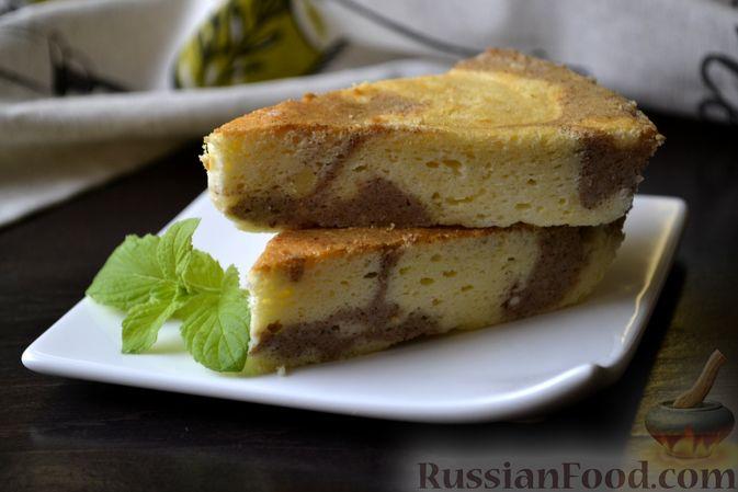 Фото приготовления рецепта: Творожно-сливочная запеканка с какао - шаг №19