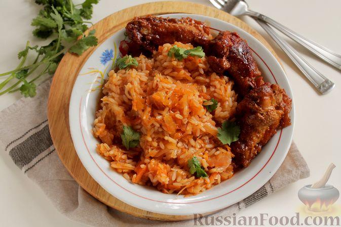 Фото приготовления рецепта: Капуста с рисом, в духовке - шаг №9