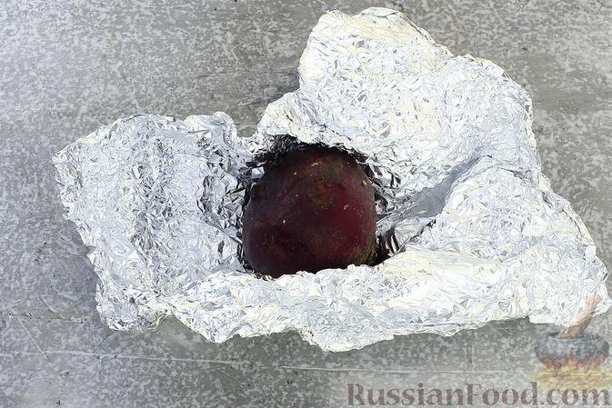 """Фото приготовления рецепта: Салат """"Селёдка под шубой"""" со свекольным желе - шаг №2"""