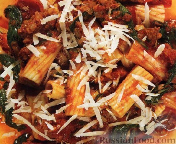 Рецепт Паста (макароны) с мясным соусом