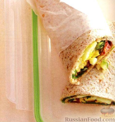 Рецепт Закусочные рулеты с овощами и яйцами