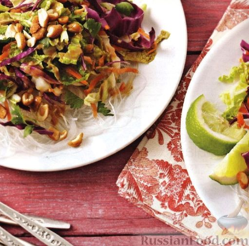 Рецепт Овощной салат с прозрачной лапшой