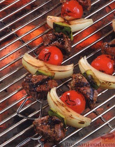 Рецепт Шашлыки из баранины и овощей