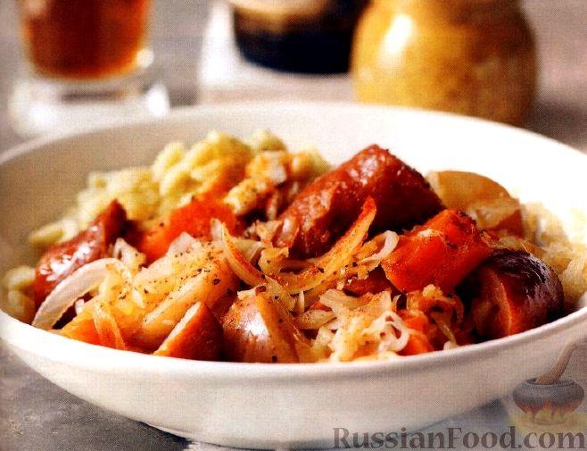 Рецепт Рагу из овощей и копченой колбасы (в медленноварке)