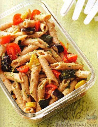 Рецепт Салат из пасты и жареных овощей