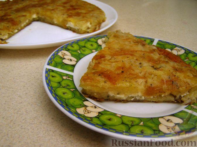 Рецепт Картофельная запеканка на сковороде
