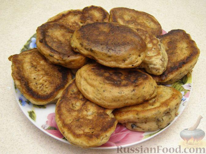 Рецепт Закусочные оладьи с грибами
