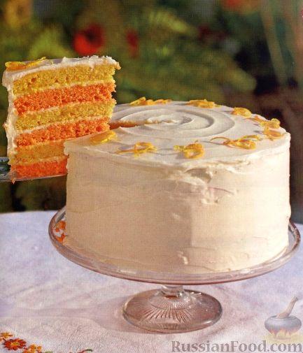 Рецепт Цитрусовый торт праздничный