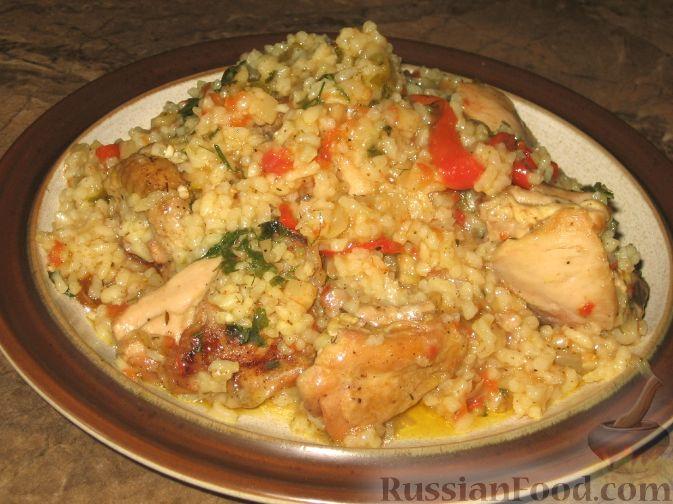 Рецепт Пилав из курицы с овощами