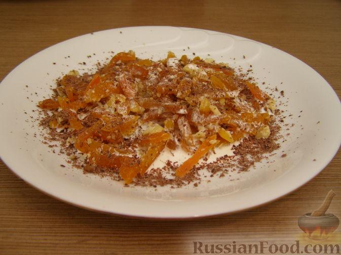 Рецепт Десертный салат из кураги