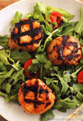 Рецепт Морские гребешки, жаренные на гриле