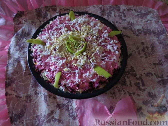 """Рецепт Торт овощной """"Любаша"""" из сельди и овощей"""