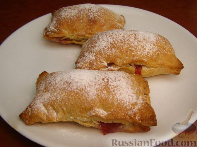 Рецепт Пирожки-слойки с малиной