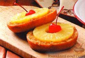 Рецепт Пончики, жаренные с ананасами на гриле