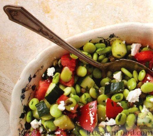 Рецепт Овощной салат с соевыми бобами