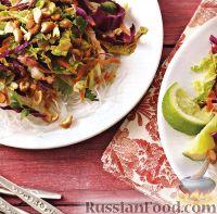 Фото к рецепту: Овощной салат с прозрачной лапшой
