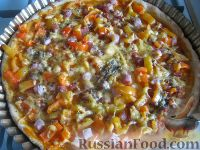 Фото к рецепту: Пицца на скорую руку