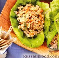 Фото к рецепту: Закуска из сыра тофу, каштанов и овощей